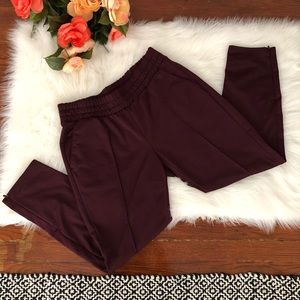 GAP Fit Burgundy Athletic Pants Warm Up Track Pant